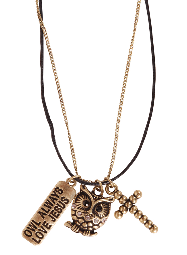 Charm Necklace - Owl Always Love Jesus