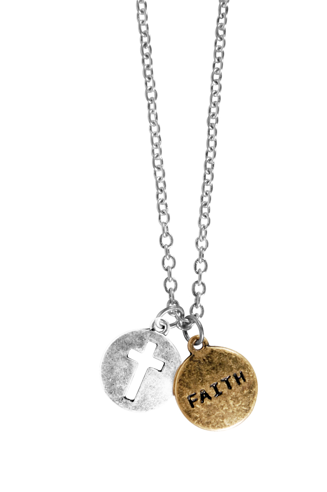 Charm Necklace - Faith Cross