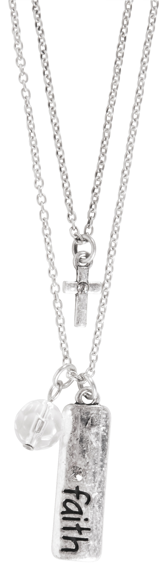 Charm Necklace - Cross Jewel