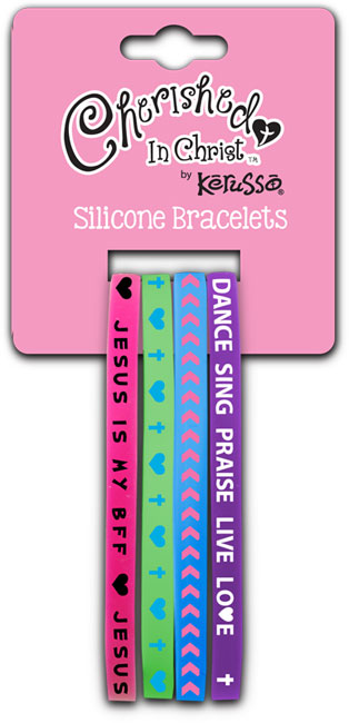 Silicone Bracelet Set - Jesus Is My BFF