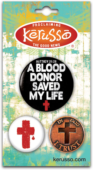 Carded Button Set - Blood Donor