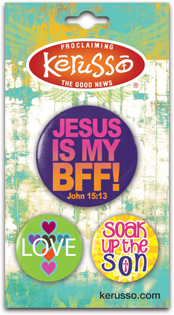 Carded Button Set - Jesus Is My BFF