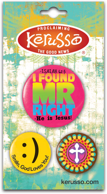 Carded Button Set - Mr. Right