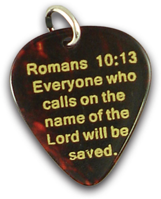 Guitar Pick Necklace - Pick Jesus Brown