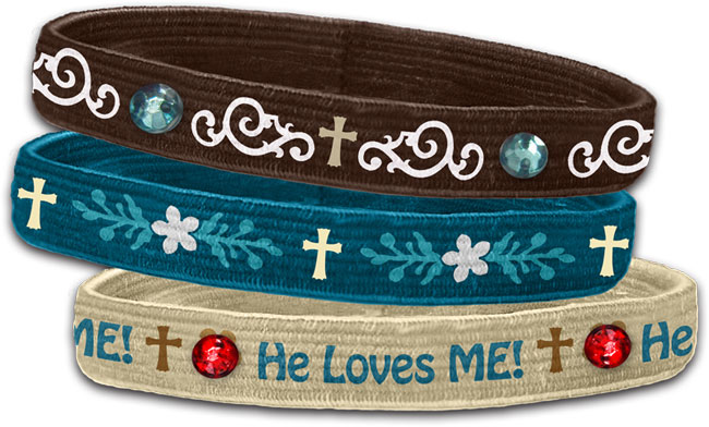 Stretch Bangles - He Loves Me (3 Pk)