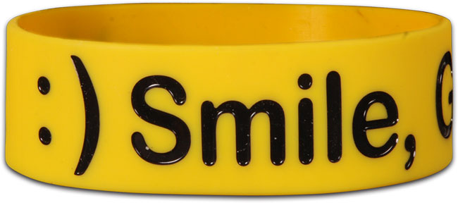 Wide Silicone Bracelet - Smile