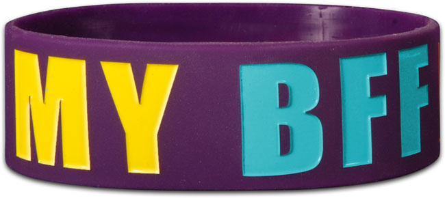Wide Silicone Bracelet - Jesus Is My BFF