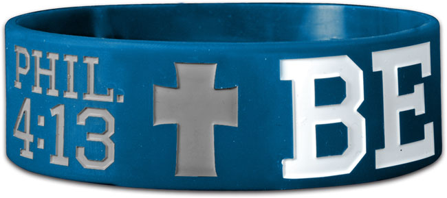 Wide Silicone Bracelet - Be Strong